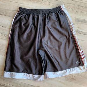 Adidas Athletic / Basketball Shorts Gray Large